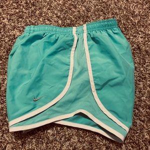 Women's Nike running shorts turquoise size xs